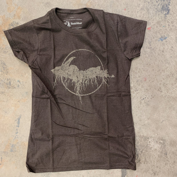 Clearance - ladies small brown yooper tee