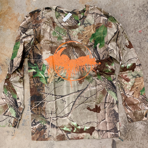 Clearance - unisex small camo yooper long sleeve