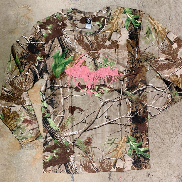 Clearance - unisex small pink camo yooper long sleeve