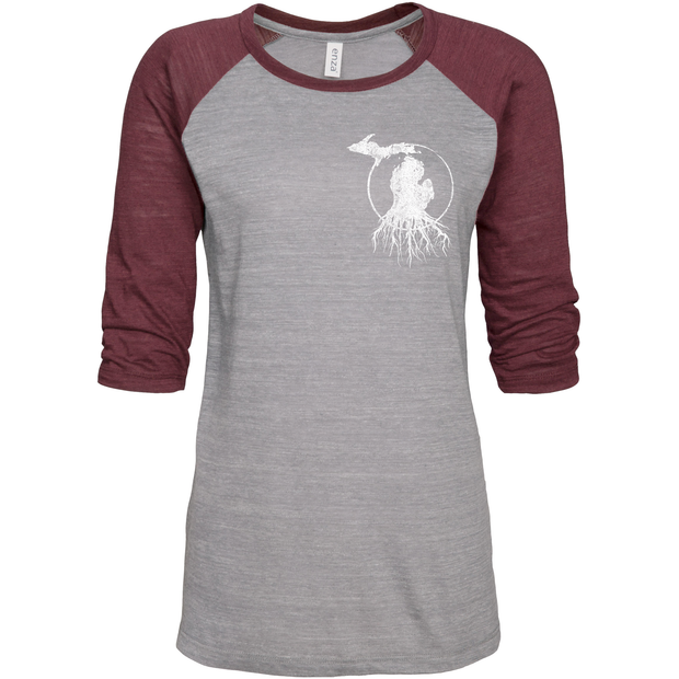 MI Roots - Ladies' Vintage Baseball Tee