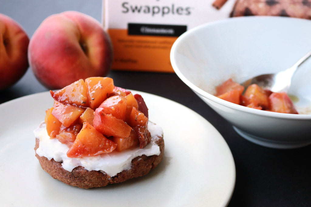 Cinnamon Swapple with rosemary peaches