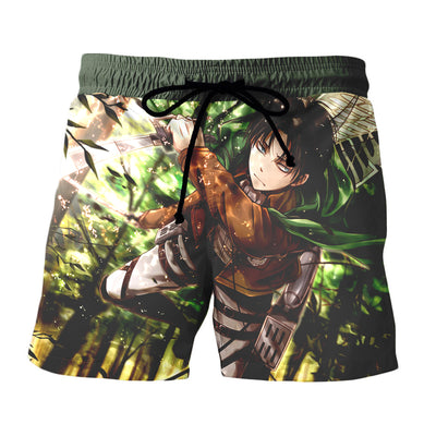 3D Printed Attack On Titan Shorts - Levi Soaring Through The Forest Shorts