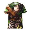 Levi Soaring Through The Forest T-Shirt - Attack On Titan 3D T-Shirt