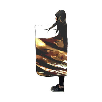 Eren Yaeger Shown in Titan and Human - 3D Printed Attack On Titan Hooded Blanket