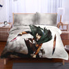 Levi In Battle With Tattered Up Uniform - Attack On Titan 3D Printed Bedset