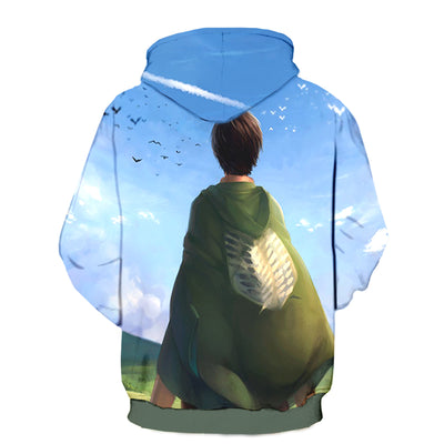 Attack On Titan 3d Printed Eren Yeager Hoodie