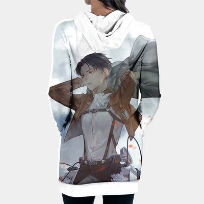Levi In Scout Regiment Uniform - 3D Printed Attack On Titan Hoodie Dress