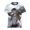 Levi in Scout Regiment uniform T-Shirt - Attack On Titan 3D T-Shirt
