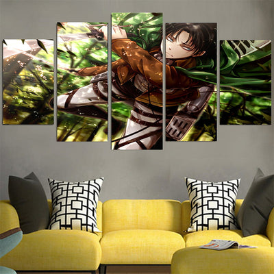 Levi Soaring Through The Forest Canvas - 3D Printed Attack On Titan Canvas