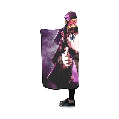 Alluka Targeting Purple Blanket - Hunter x Hunter 3D Hooded Blanket