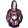 Alluka Targeting Purple Hoodie - Hunter x Hunter 3D Printed Zip Up Hoodie