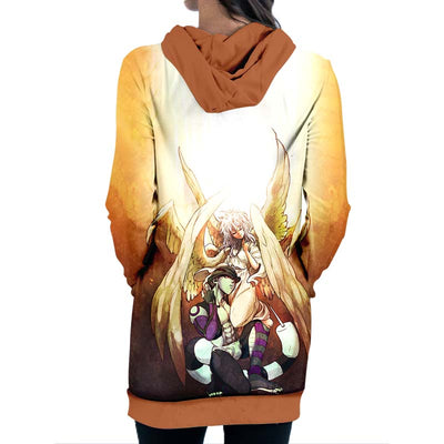 Angel Hooded Dress - Hunter x Hunter 3D Printed Hoodie Dress