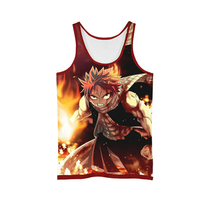 Angry Natsu Dragneel Tank Top - 3D Printed Fairy Tail Tank Top