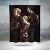 Annie, Reiner & Bertholdt - Attack On Titan 3D Printed Shower Curtain