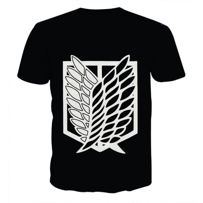 Attack On Titan Logo T-Shirt - Attack On Titan 3D T-Shirt