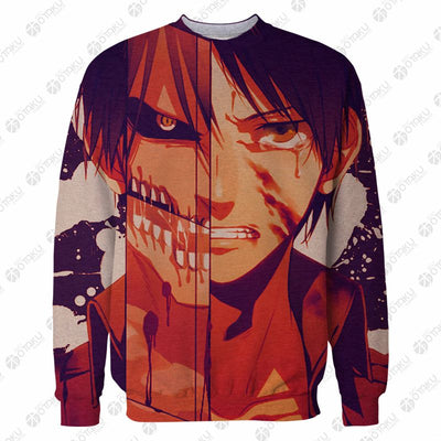 Attack on Titan EREN JAEGER- 3D Printed T-Shirt & Sweatshirt