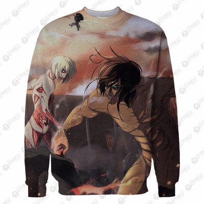 Attack on Titan EREN YEAGER 3D Printed T-Shirt & Sweatshirt