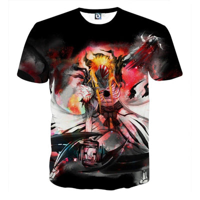 Bleach Hollow Ichigo Mask Fantasy Fan Art Full Print T-Shirt