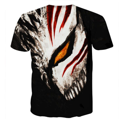 Bleach Ichigo Face Mask Art Drawing Streetwear Style T-Shirt