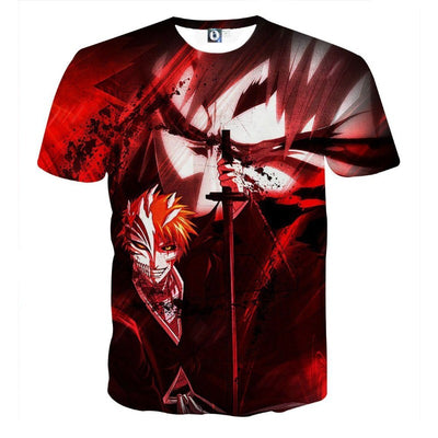 Bleach Ichigo Hollow Mask Vibe Art Concept T-Shirt