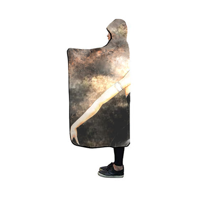 Bleach Rukia Hooded Blanket - Bleach 3D Printed Hooded Blanket