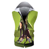 C.C Green Hooded Tank - Code Geass 3D Printed Sleeveless Hoodie