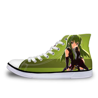 C.C Green Shoes - Code Geass 3D Printed Shoes