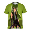 C.C Green T-Shirt - Code Geass 3D Printed T-Shirt