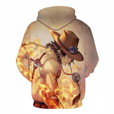 One Piece Cool Firefist Ace 3d Hoodie - One Piece 3D Printed Jacket