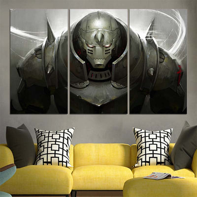 Angry Alphonse Elric Canvas - 3D Printed Full Metal Alchemist Canvas