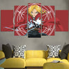 Edward Falling Casting A Spell Canvas - 3D Printed Full Metal Alchemist Canvas