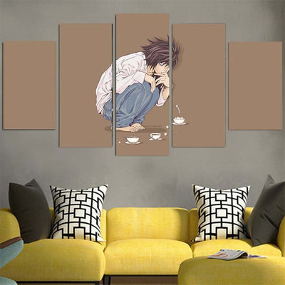 L Sitting Canvas -Death Note 3D Printed Canvas