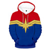 Captain Marvel Cloth Design Hoodie - Captain Marvel 3D Printed Hoodie