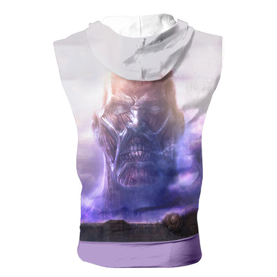 Colossal Titan Hooded Tank - Attack On Titan 3D Sleeveless Hoodie