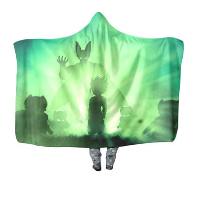 Perfect Cell Hooded Blanket - 3D Printed DBZ Hooded Blanket