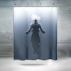 Ultra instinct Goku Shower Curtain - 3D Printed DBZ Shower Curtain