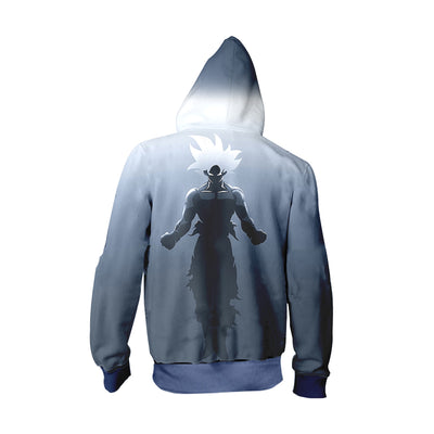Dragon Ball Z Hoodie - Ultra instinct Goku minimalist -Zip Up Hoodie & T-Shirt