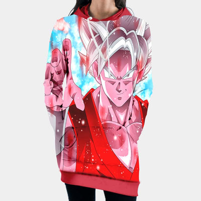 Dragon Ball Z Ultra instinct Goku - 3D Printed DBZ Hoodie Dress