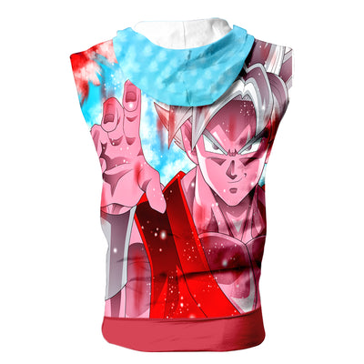 Instinct Goku Tank Top - 3D Printed DBZ Sleeveless Hoodie