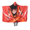 Goku Powerstance Hooded Blanket - 3D Printed DBZ Hooded Blanket
