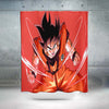 Goku Powerstance Shower Curtain - 3D Printed DBZ Shower Curtain