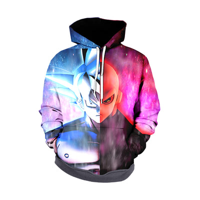Dragon Ball Z Hoodie - Goku ultra instinct vs Jiren -Zip Up Hoodie & T-Shirt