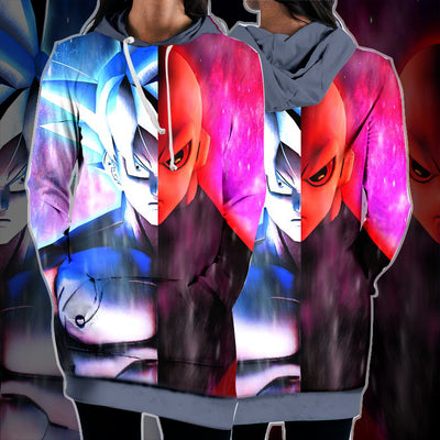 Dragon Ball Z Goku Ultra Instinct vs Jiren - 3D Printed DBZ Hoodie Dress