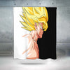 Super Saiyan Shower Curtain - 3D Printed DBZ Shower Curtain