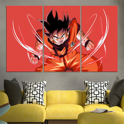 Goku Powerstance Canvas - 3D Printed DBZ Canvas
