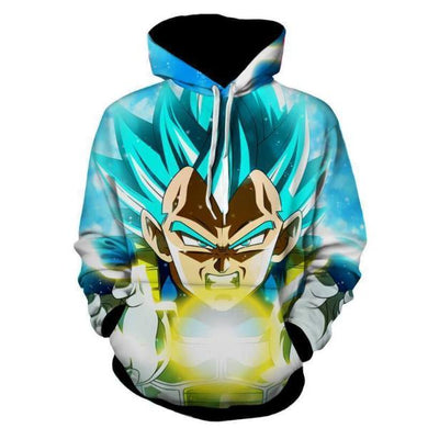 Dragon Ball Super Z  - Vegeta SSJ Blue God Hoodie