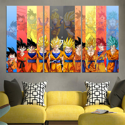 Dragon Ball Z All Characters Canvas - 3D Printed DBZ Canvas
