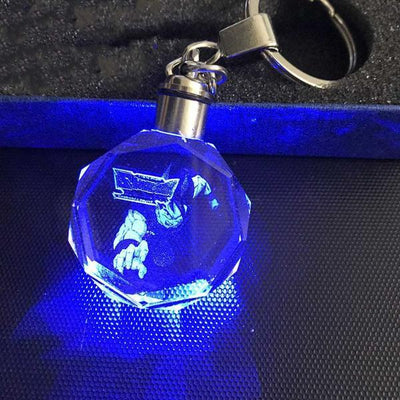 Dragon Ball Z Blue Crystal Keychain