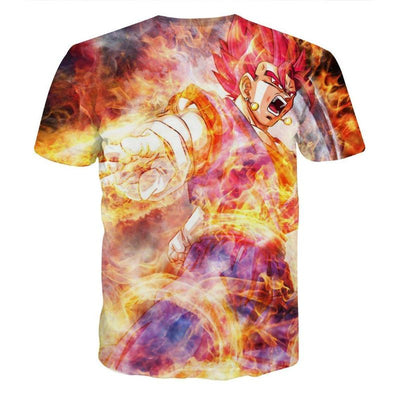 Dragon Ball Z Shirt - Goku Super Saiyan God Battle - 3D T Shirt