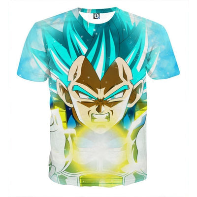 Dragon Ball Z Shirt - Vegeta Super Saiyan Blue - 3D T Shirt